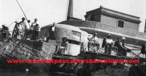 Far del Rompeolas a la postguerra, amb fortificació d'ametralladores.